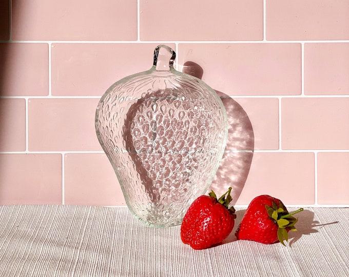 Glass Strawberry Bowl found by Willabird Designs Vintage Finds