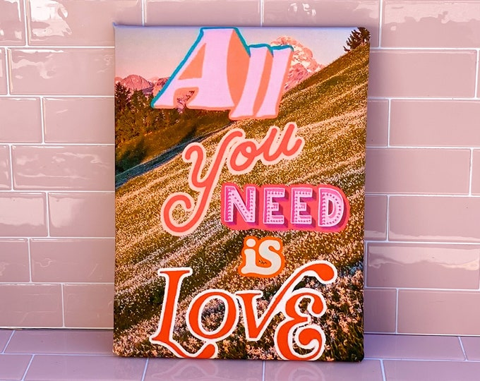 All You Need is Love Foamcore Print found by Willabird Designs Vintage Finds