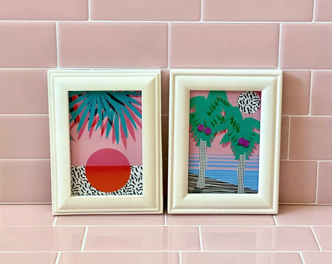 Framed Tropical Vibes Postcards found by Willabird Designs Vintage Finds