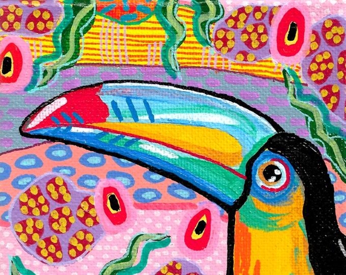 Jungalow Bird Paintings by Willabird Designs Artist Amber Petersen