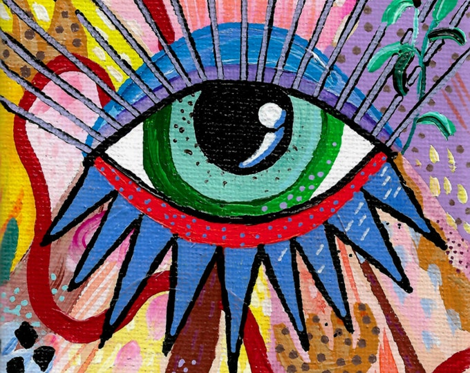 Eye of Protection Painting by Willabird Designs Artist Amber Petersen