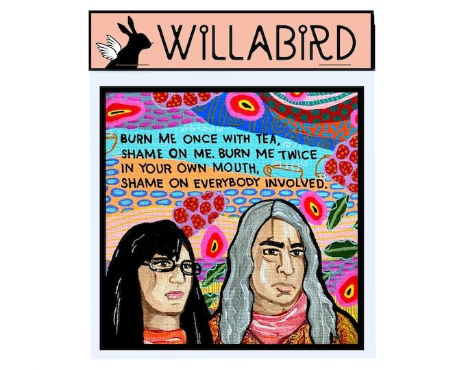 Portlandia Feminist Bookstore Magnet by Willabird Designs Artist Amber Petersen