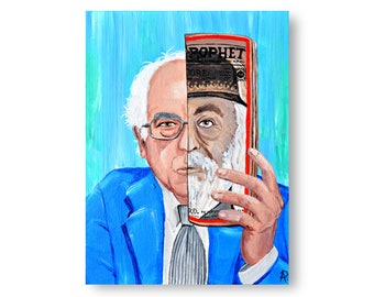 Bernie Sanders Painting by Artist Amber Petersen. Willabird Designs kitsch décor