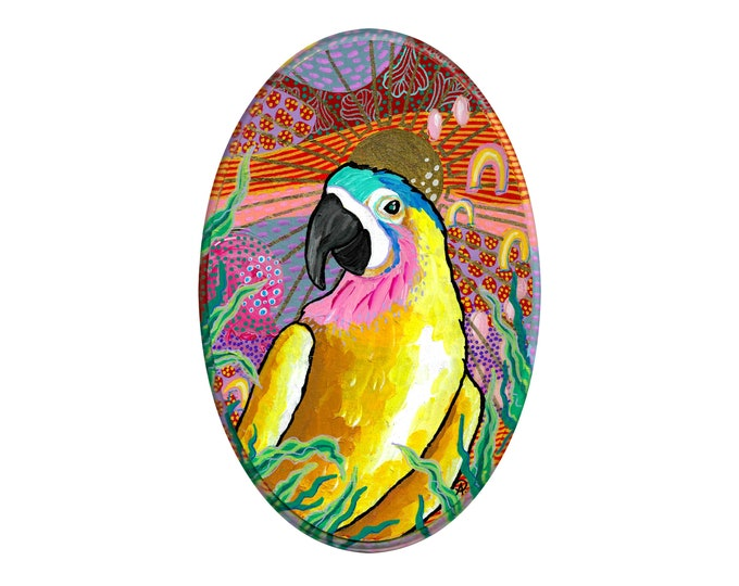 Jungalow Parrot Painting by Willabird Designs Artist Amber Petersen
