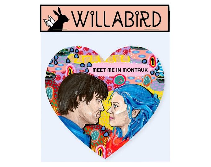 Eternal Sunshine of the Spotless Mind Magnet by Willabird Designs Artist Amber Petersen. Jim Carrey & Kate Winslet, meet me in Montauk