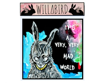 Donnie Darko Magnet by Artist Amber Petersen. Frank the Bunny. It;s a Very Very Mad World