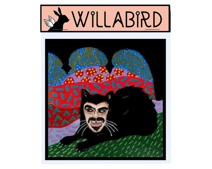 What We Do in the Shadows Magnet by Willabird Designs Artist Amber Petersen. Jemaine Clement as Vampire Cat Vladislav