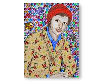 Michael Cera Painting by Willabird Designs Artist Amber Petersen
