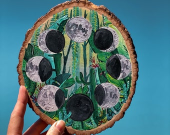 Jungalow Moon Phase Painting by Willabird Designs Artist Amber Petersen
