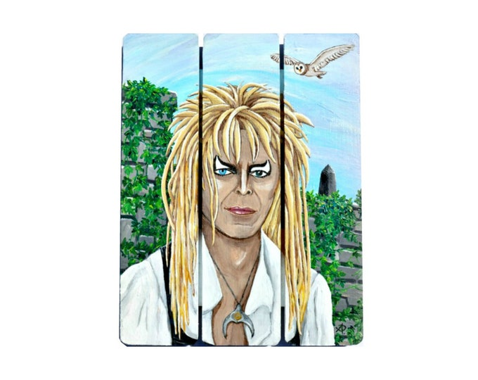 Jareth Painting by Willabird Designs Artist Amber Petersen. Tribute to David Bowie as the Goblin King in The Labyrinth