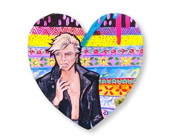 David Bowie Tribute Painting by Willabird Designs Artist Amber Petersen