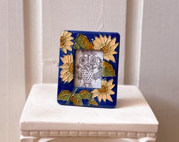 Mini Glass Sunflower Frame found by Willabird Designs Vintage Finds