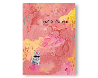 Little Bunny Big Dreams Paintings by Artist Amber Petersen. Eclectic Willabird Designs kitsch décor