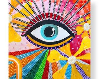Third Eye Rhinestone Décor by Willabird Designs Artist Amber Petersen. Eye of Protection, Evil Eye
