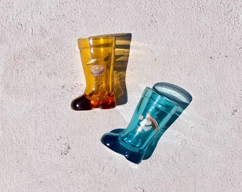 Vintage Italian 1960s MOD DEP Glass Boots found by Willabird Designs Vintage Finds