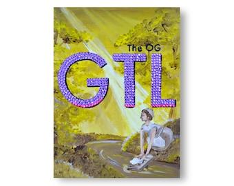 Renaissance Jersey Shore Rhinestone Painting by Willabird Designs Artist Amber Petersen. The OG GTL Gym Tan Laundry