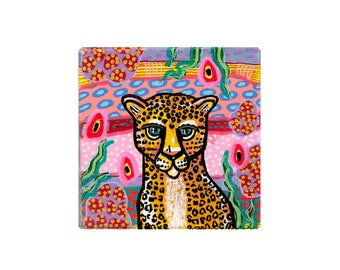 Big Cat Mini Paintings by Artist Amber Petersen. Willabird Designs eclectic art and home decor