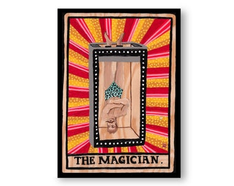 Tarot Cards Paintings by Artist Amber Petersen. Eclectic Willabird Designs kitsch décor, vintage circus aesthetic