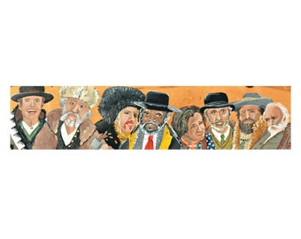 Hateful Eight Painting by Artist Amber Petersen. willabird Quentin Tarantino film art