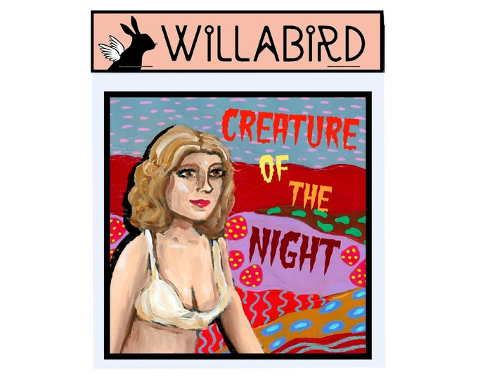 Rocky Horror Picture Show Creature of the Night Janet Magnet by Willabird Designs Artist Amber Petersen