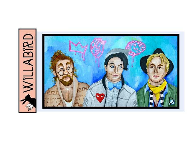 Wizard of Oz Hipsters Magnet by Willabird Designs Artist Amber Petersen