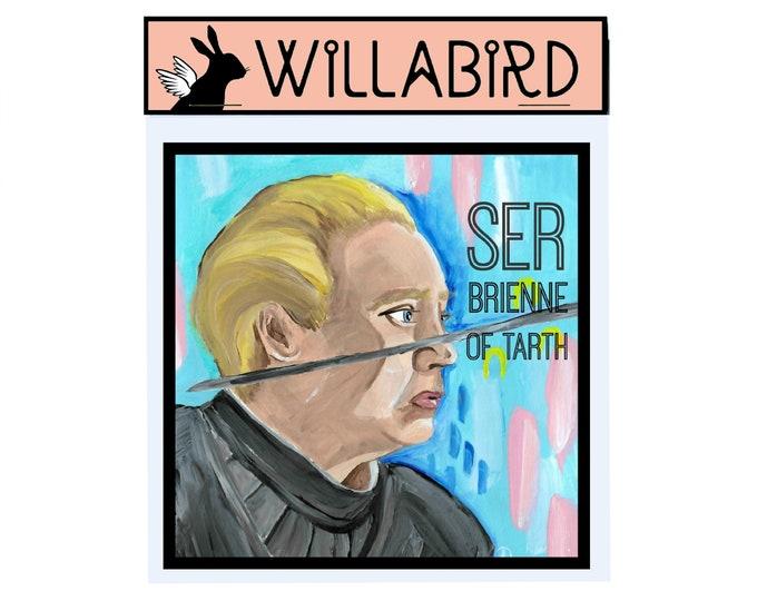 Brienne of Tarth Game of Thrones Magnet by Willabird Designs Artist Amber Petersen