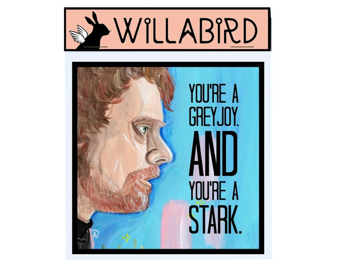 Theon Greyjoy Game of Thrones Magnet by Willabird Designs Artist Amber Petersen. You're a Greyjoy, and you're a Stark