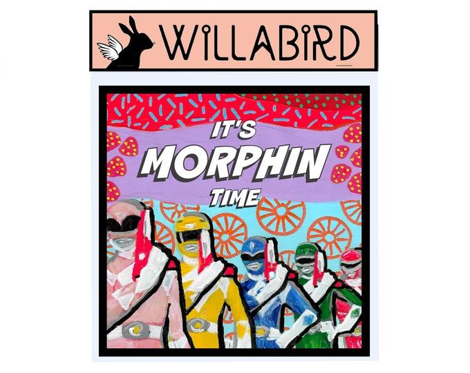 Power Rangers It's Morphin Time Magnet by Willabird Designs Artist Amber Petersen
