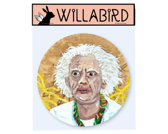 Doc Brown Magnet by Willabird Designs Artist Amber Petersen. Christopher Lloyd, Back to the Future