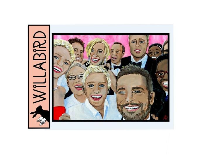 Oscar Selfie Magnet by Willabird Designs Artist Amber Petersen