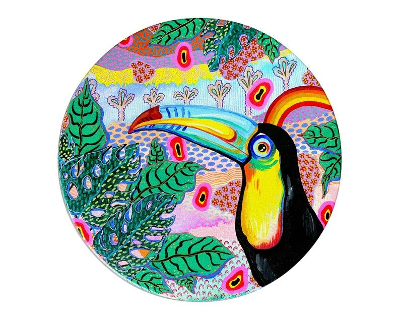 Jungalow Toucan Painting by Willabird Designs Artist Amber image 0