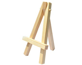 Small Wooden Easel for Displaying Miniature Art