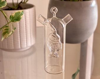 Glass Oil & Vinegar Fish Bottle found by Willabird Designs Vintage Finds