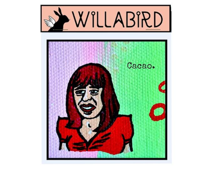 Portlandia Cacao Magnet by Willabird Designs Artist Amber Petersen. Fred Armisen as Nina