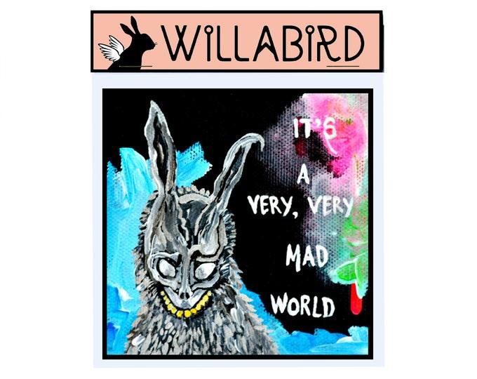 Donnie Darko Magnet by Willabird Designs Artist Amber Petersen. Frank the Bunny, It's a Very Very Mad World