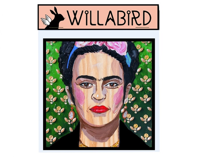 Frida Kahlo Magnet by Willabird Designs Artist Amber Petersen