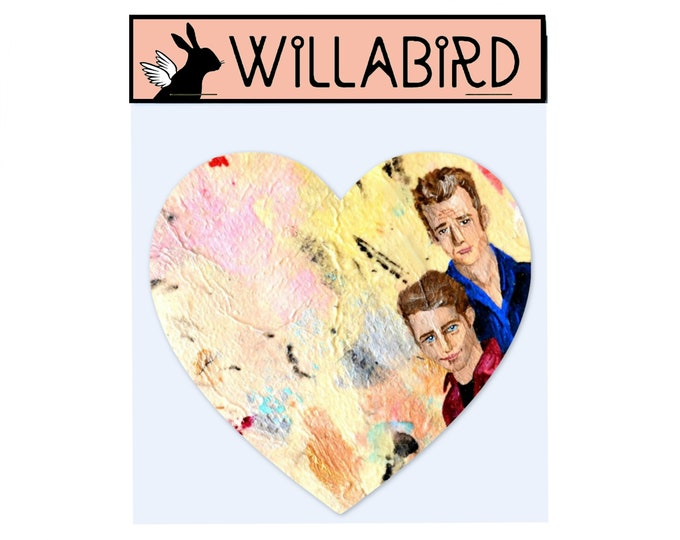 Dylan vs Brandon 4Ever Magnet by Willabird Designs Artist Amber Petersen. Beverly Hills 90210's Luke Perry & Jason Priestly
