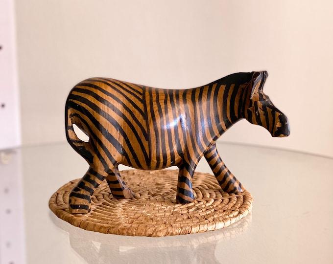Wooden Zebra found by Willabird Designs Vintage Finds