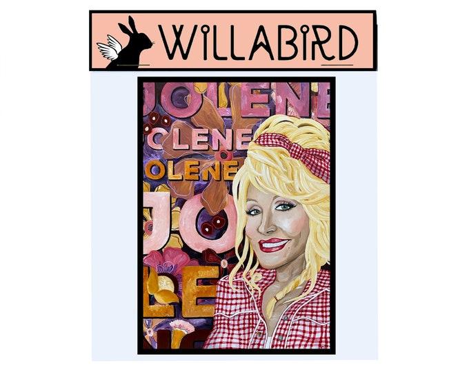 Dolly Parton Jolene Magnet by Willabird Designs Artist Amber Petersen