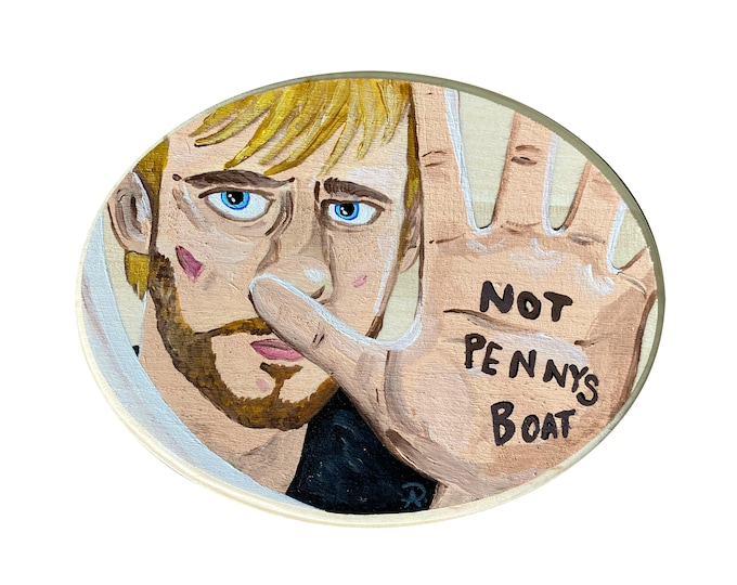 Not Penny's Boat LOST Painting by Willabird Designs Artist Amber Petersen. Dominic Monaghan as Charlie