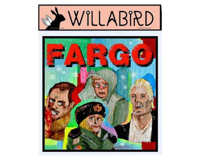 Fargo Magnet by Willabird Designs Artist Amber Petersen