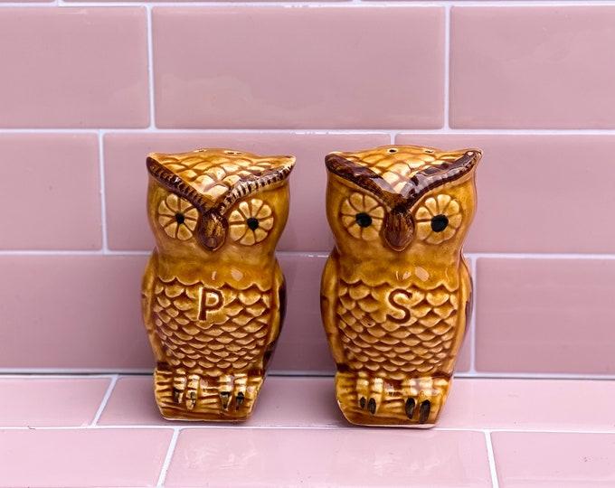 Vintage Owl Salt & Pepper Shakers found by Willabird Designs Vintage Finds