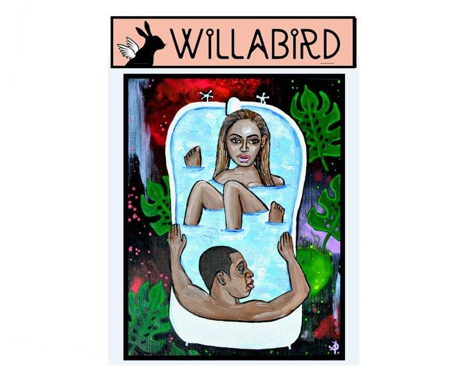 Beyonce & Jay-Z Bath Magnet by Willabird Designs Artist Amber Petersen