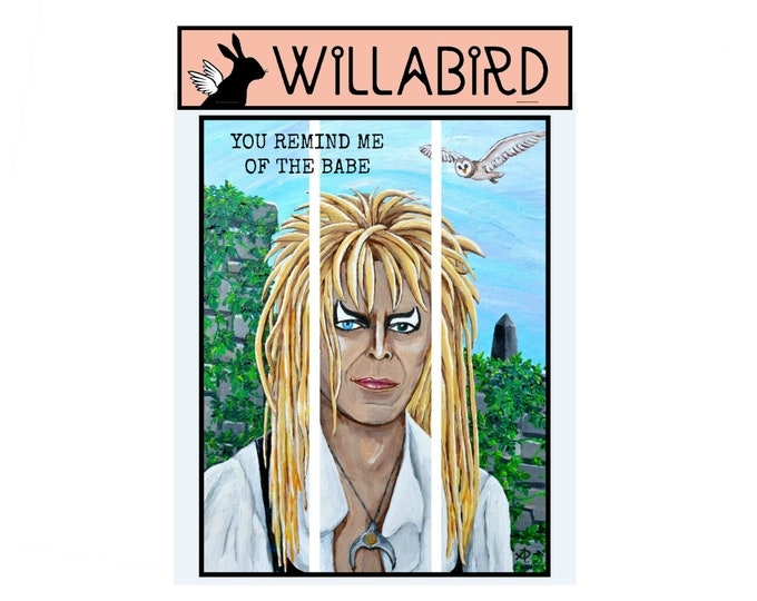Jareth Labyrinth Magnet by Willabird Designs Artist Amber Petersen. David Bowie, You Remind Me of the Babe