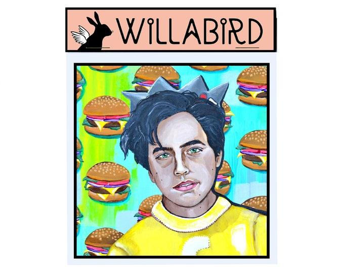 Cole Sprouse Jughead Magnet by Willabird Designs Artist Amber Petersen. Riverdale/Archie Comics