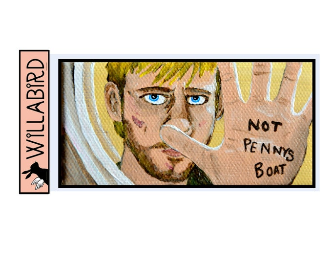 LOST Magnet by Willabird Designs Artist Amber Petersen. Dominic Monaghan as Charlie, Not Penny's Boat