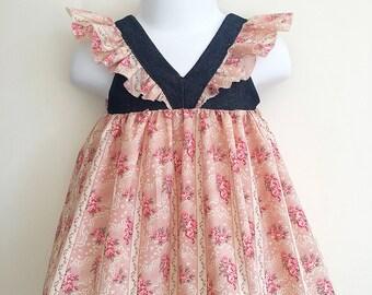 Antique Rose dress for 9 / 12 month old girl