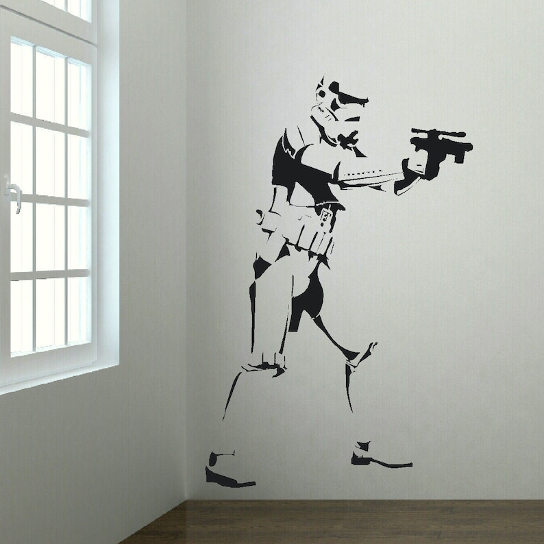 Xtra Large Storm Trooper Star Wars Life Size Wall Art Big image 0