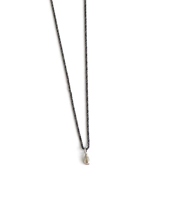 Silver minimalist necklace teardrop necklace silver teardrop etsy image 0 aloadofball Image collections