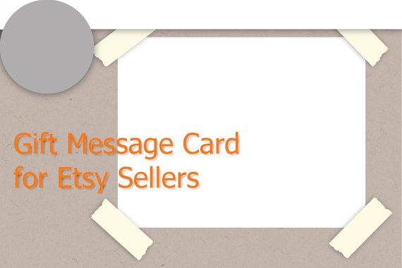 Gift message card Etsy seller template Card template Shop | Etsy